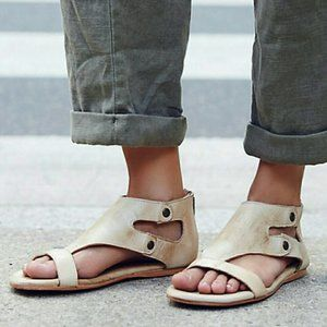 Bed Stü Soto Cut Out Gladiator Sandal Rustic Sand